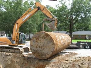 Tank removal-elementary school